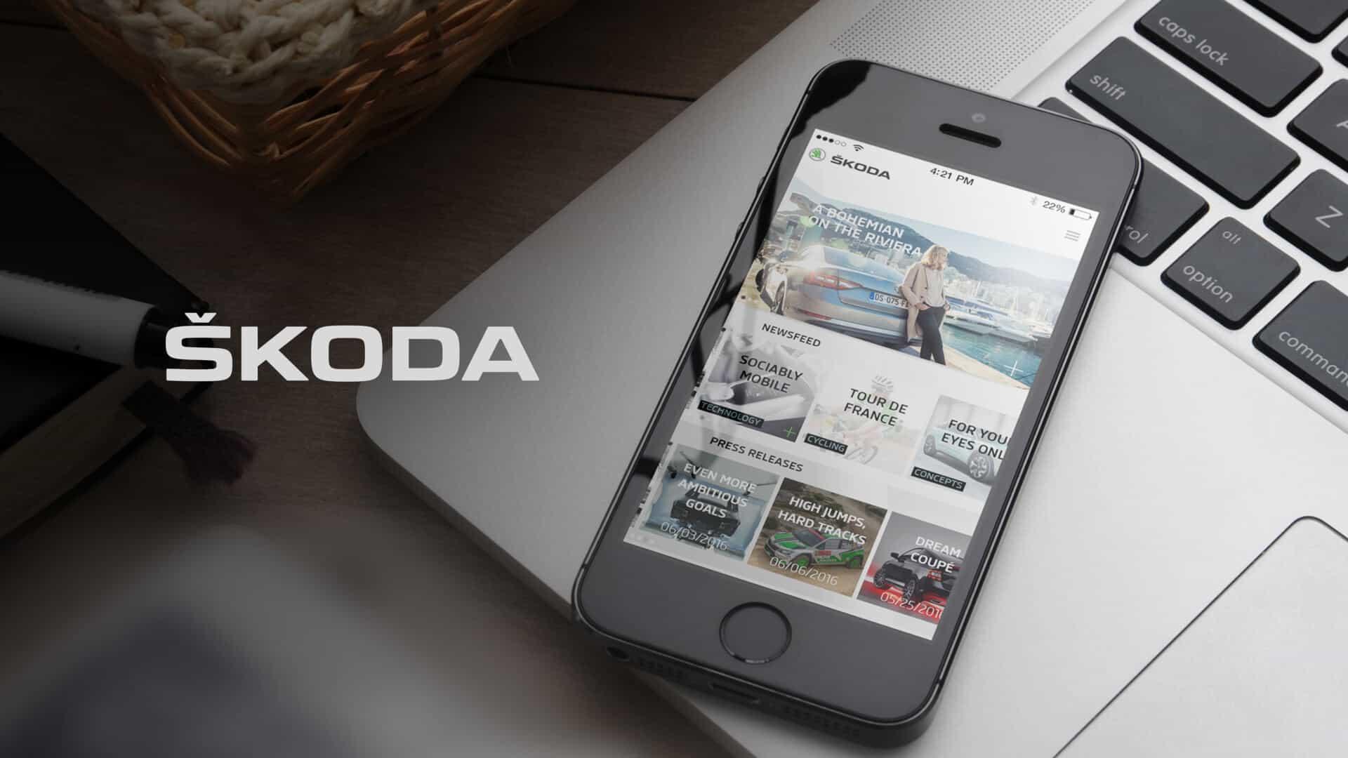 Reference - Škoda Storyboard (mobilní aplikace)